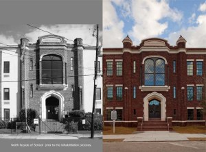 Moultrie facade. Before and after pictures (2011-2013)